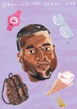 Jacket Image For: Dressing the Yeezy Way: The Kanye West Coloring Book (Unofficial)