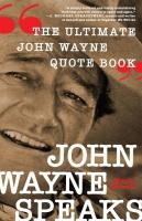 Jacket Image For: John Wayne Speaks